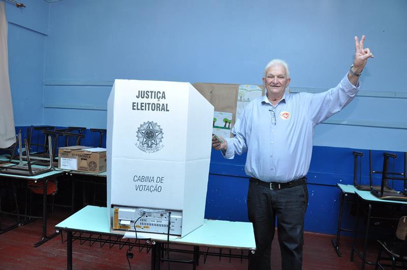 Guido Hoff foi às urnas no fim da manhã