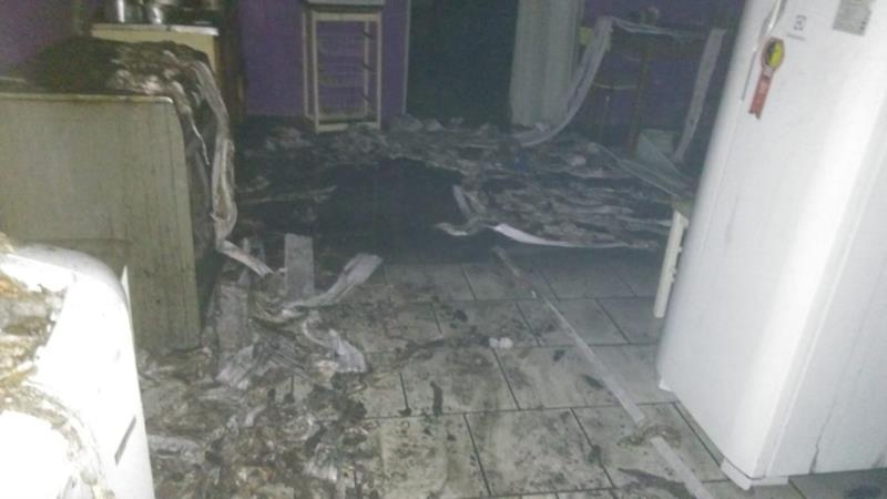 Residência pega fogo em Candelária