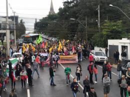Confira fotos da mobilização dos agricultores em Santa Cruz