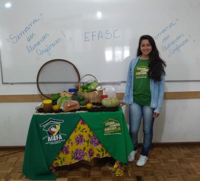 """""""É a maior oportunidade para quem duvida da produção orgânica"""", diz aluna da Efasc"""