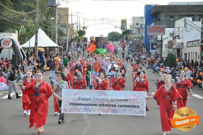 Kaimana relembrou personagens japoneses no desfile