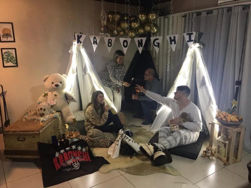 Sintonia da família Maas fez bonito na foto da Kabonghi
