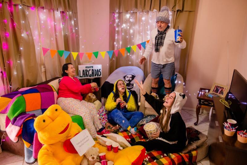 Equipe Largados fez a festa da família Fonseca