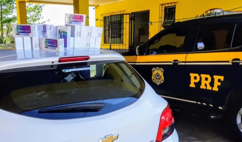 Moradores de Santa Cruz e Vera Cruz são pegos com R$ 200 mil em celulares na BR-290