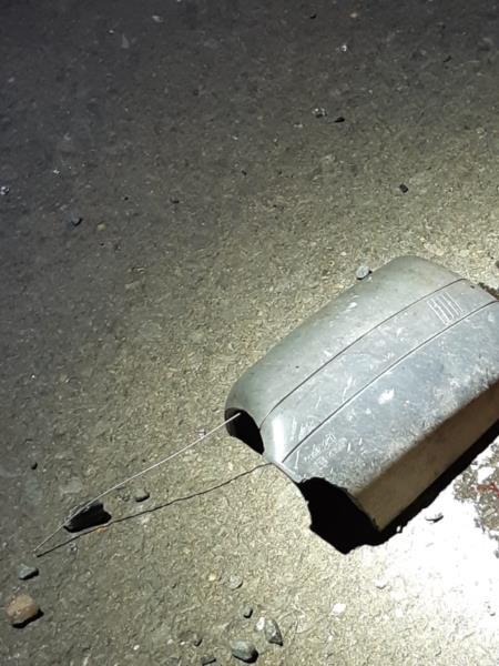 Retrovisor do carro acabou ficando na cena do acidente