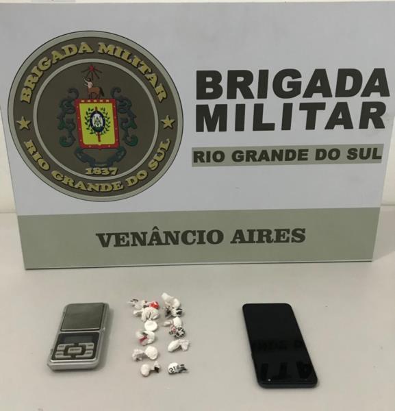 Adolescente é apreendido por trafico de drogas em Venâncio Aires