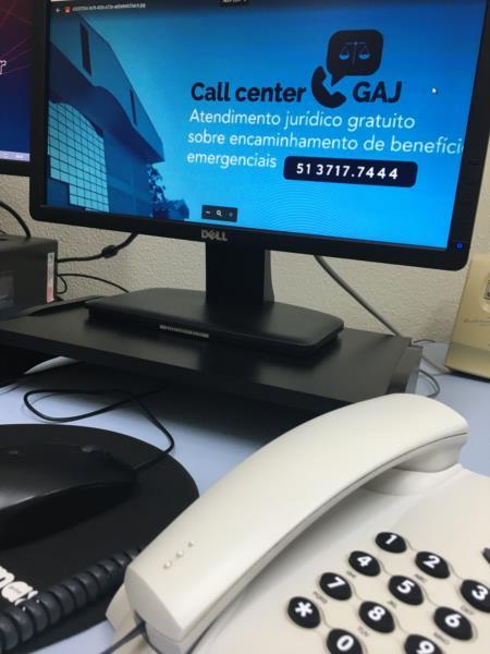 Call Center GAJ ultrapassa 500 atendimentos
