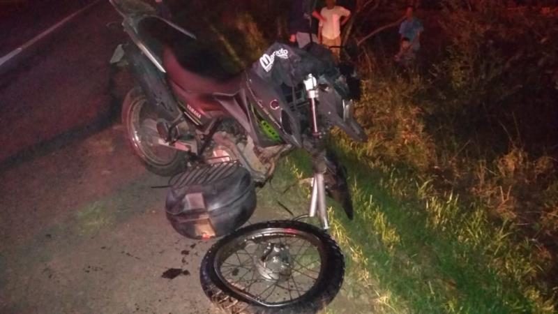 Acidente entre moto e caminhão deixa mulher ferida na RSC-287 em Candelária