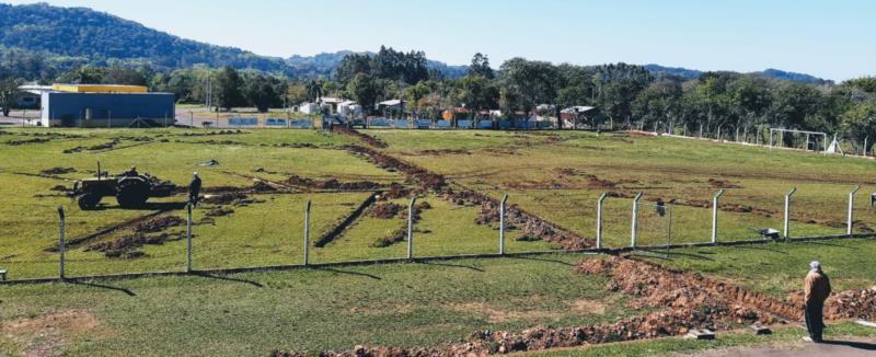 Campo do FC Rio Pardinho vem recebendo melhorias