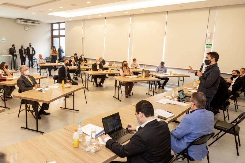 Na manhã deste sábado (29), os encontros foram em Novo Hamburgo com prefeitos, deputados e dirigentes da região