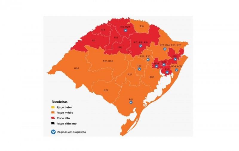 Mapa preliminar da 17ª rodada do Distanciamento Controlado recebe sete pedidos de reconsideração