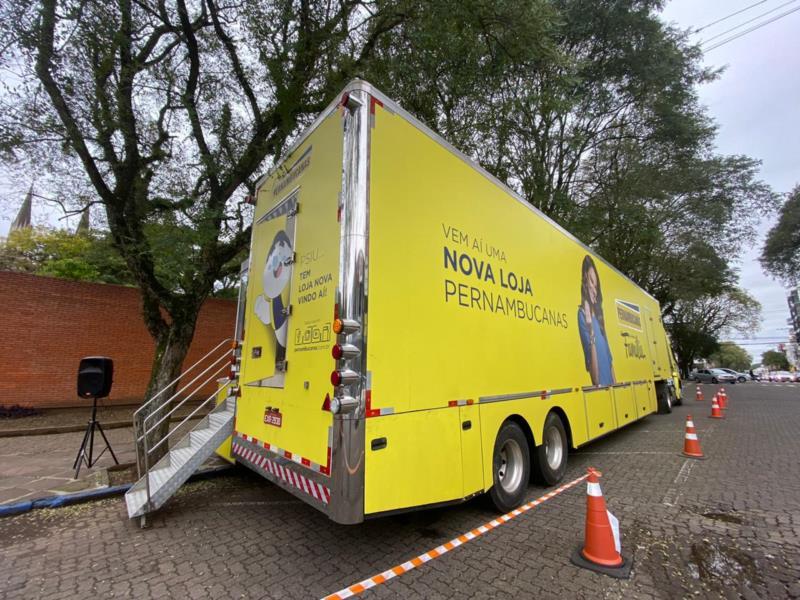 O caminhão itinerante, localizado na Rua Júlio de Castilhos, n° 279, ficará na cidade até quinta-feira