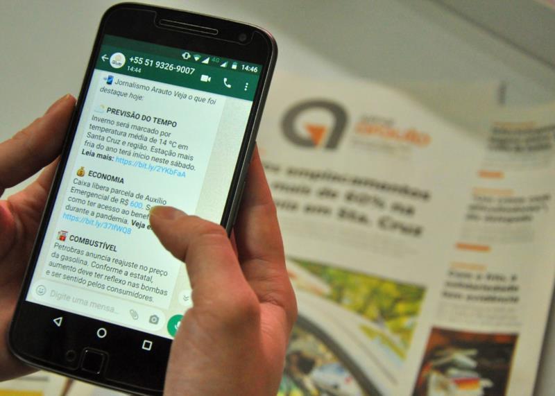 Saiba como se cadastrar para receber notícias do Grupo Arauto pelo WhatsApp