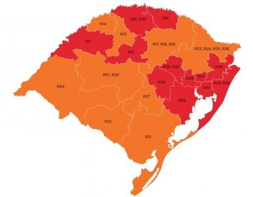 Estado volta a classificar Vale do Rio Pardo com bandeira vermelha