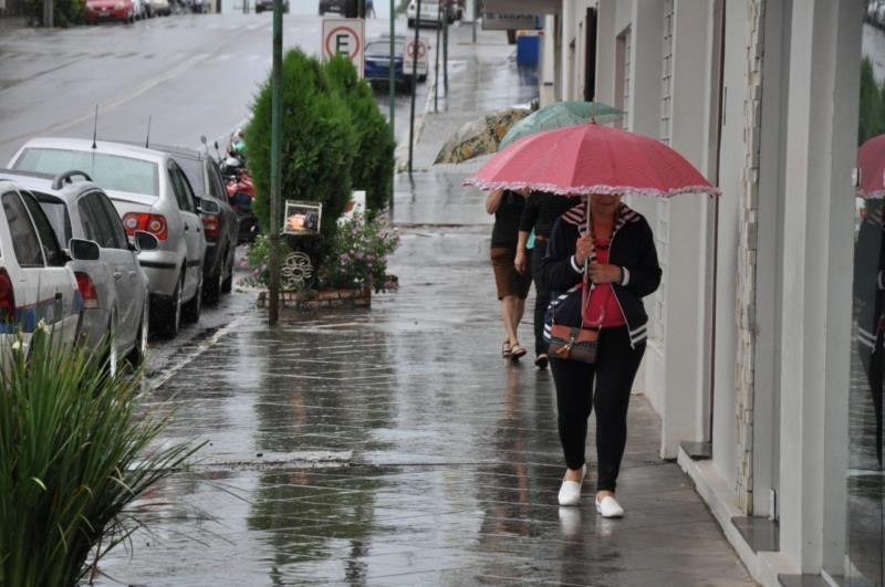 Chuva prevalece ao longo dos próximos dias