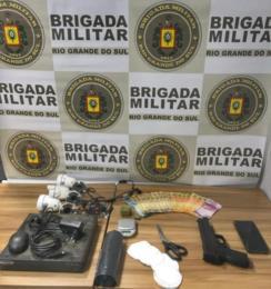 Brigada Militar prende jovem suspeito por tráfico de drogas em Venâncio Aires