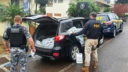VÍDEO: após perseguição, PRF e BM prendem contrabandista de agrotóxicos