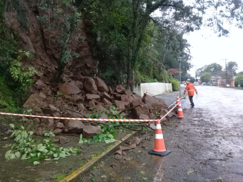 Deslizamento foi registrado no Bairro Belvedere