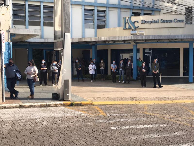 Profissionais de saúde do HSC receberam homenagem na tarde de hoje