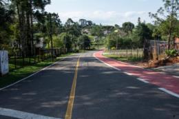 Avança construção de ciclovia em Linha Santa Cruz