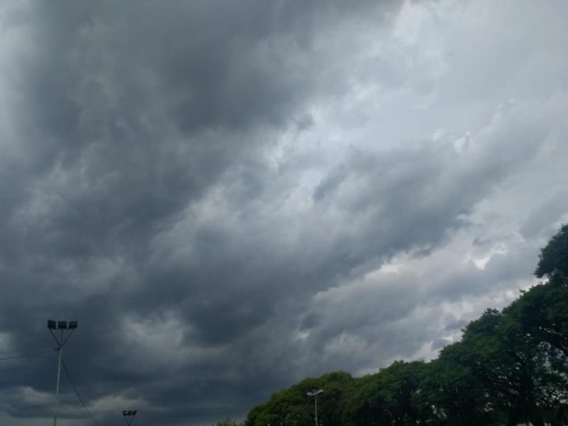 Previsão é de que a região seja atingida nesta quarta-feira por temporal