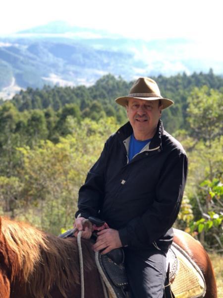 Após a aposentadoria, Frozza passou a ter contato com cavalos e a natureza