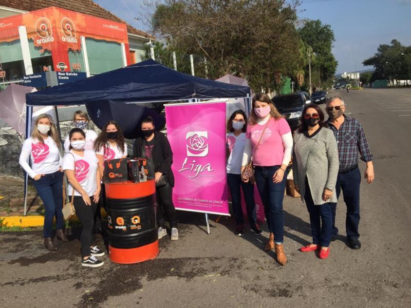 Em agosto, Grupo Arauto apoiou a Liga Feminina de Combate ao Câncer na realização de um drive-thru