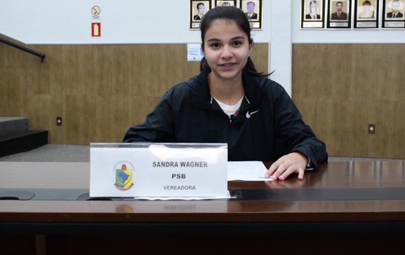 Andressa Vaz, da Escola Cônego Albino Juchem. Representou a vereadora Sandra Wagner