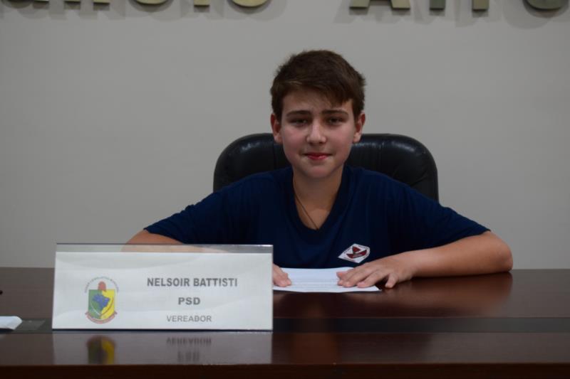 Murilo Frantz, da Escola Cidade Nova. Representou o vereador Nelsoir Battisti