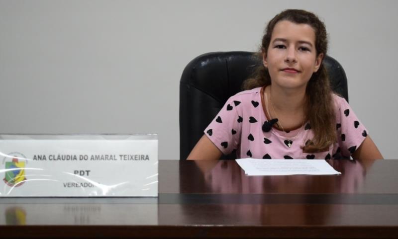 Heloísa Endler, da Escola Léo João Fröhlich, de Linha 17 de junho. Representou a vereadora Ana Cláudia