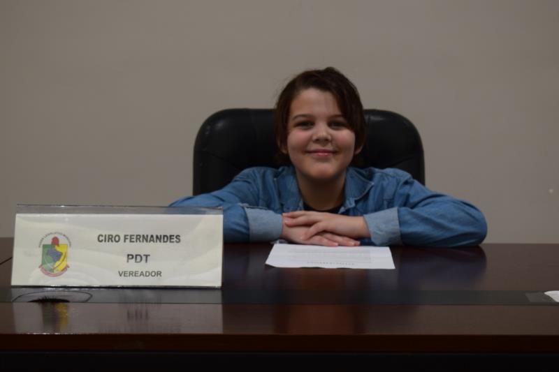 Matheus de Freitas, da Escola Benno Breunig. Representou o vereador Ciro Fernandes