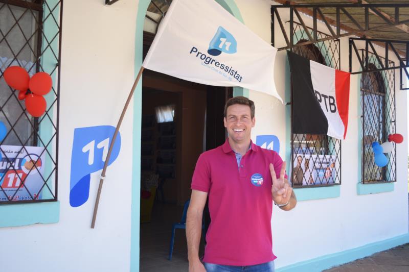 Candidato à reeleição tem como vice o vereador José Valtair dos Santos, em chapa pura do PP