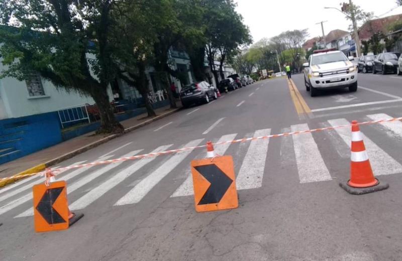 Melhorias no Trevo da Souza Cruz voltam a bloquear trânsito em Santa Cruz