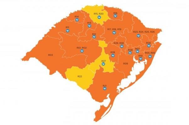 Vale do Rio Pardo segue com bandeira laranja, porém com protocolos de bandeira amarela, pelo modelo de cogestão adotado pela Amvarp