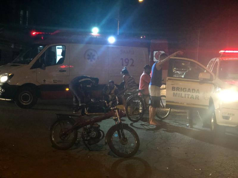 Acidente aconteceu no Bairro Bela Vista na noite deste domingo