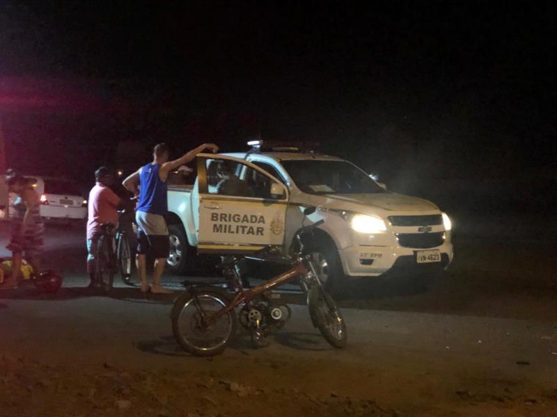 Colisão entre carro e motocicleta elétrica deixa homem ferido em Venâncio Aires
