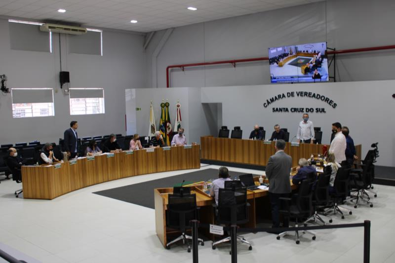 Câmara recebe seis projetos para a sessão desta segunda-feira em Santa Cruz