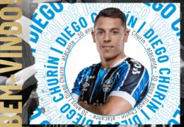 Grêmio oficializa contratação de Diego Churín