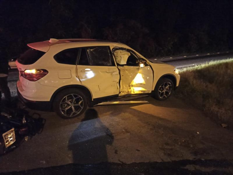 Na sexta, BMW cortou a frente de moto em Santa Cruz