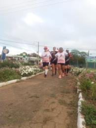 Na comemoração do aniversário de 70 anos, a superação dos 21km