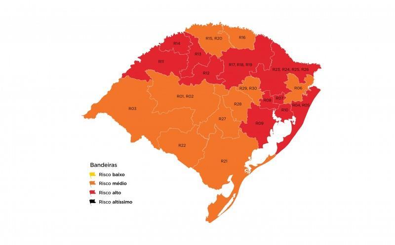 Aumento no indicador que mede relação entre leitos de UTI livres e ocupados impactou todas as regiões