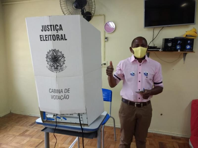 Jerônimo da Silva foi o primeiro candidato a votar