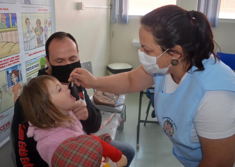 Em Vera Cruz e Vale do Sol, a população-alvo já foi imunizada contra a poliomielite