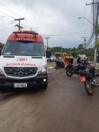 Motociclista fica ferido em acidente no Bairro Arroio Grande