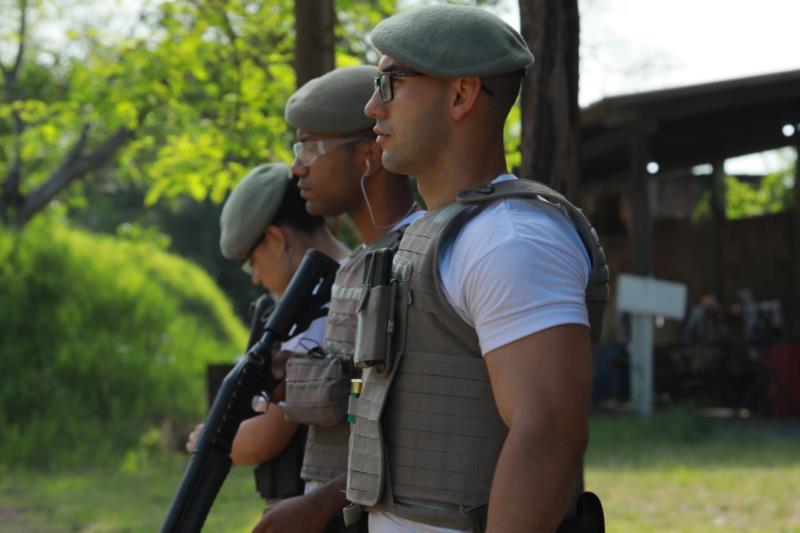 Soldado durante o curso de formação