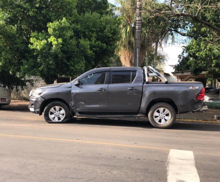Motorista da Toyota Hilux não ficou ferido