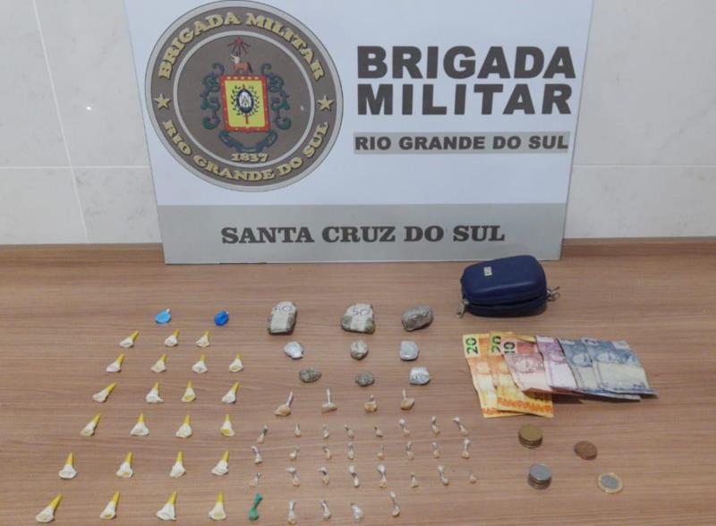 Homem é preso por tráfico de drogas em Santa Cruz