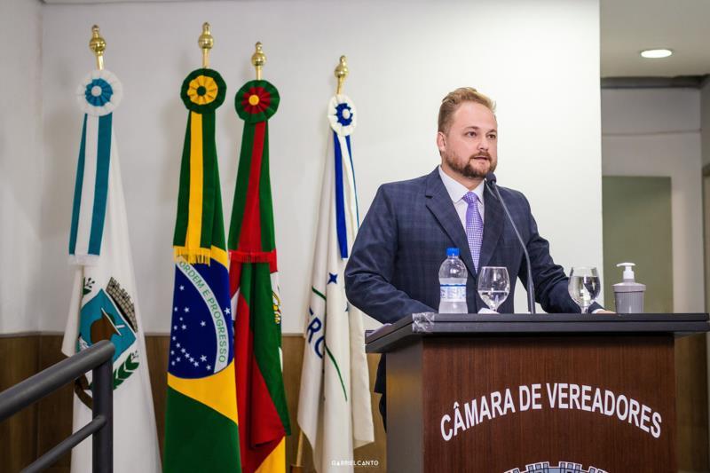 Tiago Quintana foi eleito na última sexta-feira como presidente da Câmara