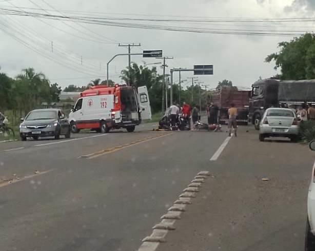 Jovem fica ferido em acidente de trânsito na RSC-453