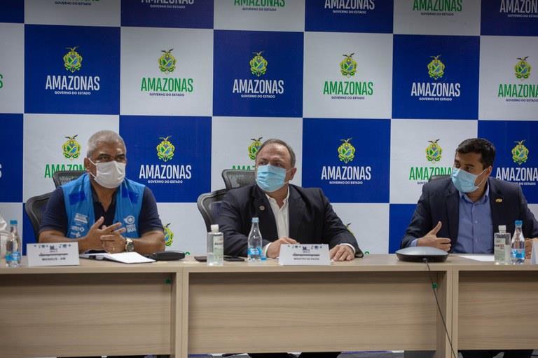 Ministro da Saúde, Eduardo Pazuello, se reuniu com 13 prefeitos da Região metropolitana de Manaus